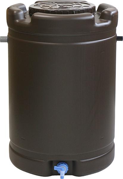 コンテナ広場 雨水を溜めて家庭菜園の水やり 道具洗い 災害対策等 使い方色々 安全興業製 国産 雨水タンク 835mm 2020 新作 茶 付属品あり 本日の目玉 580mm 185L 高さ 直径 容量