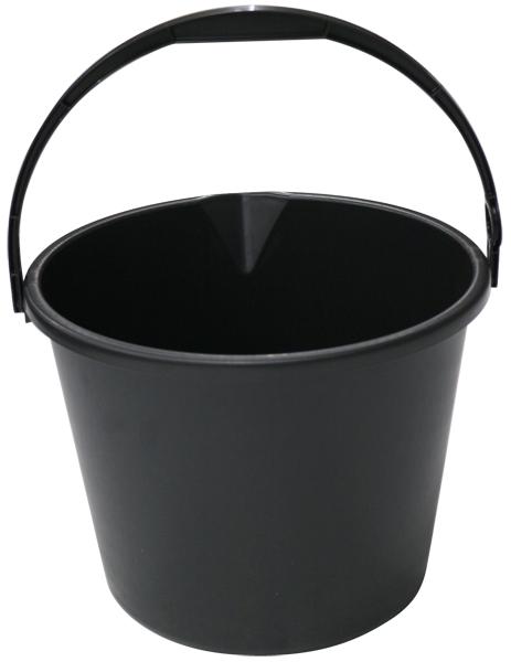 コンテナ広場 国産 バケツ マート 黒 小型ポリバケツ 10L ブランド品