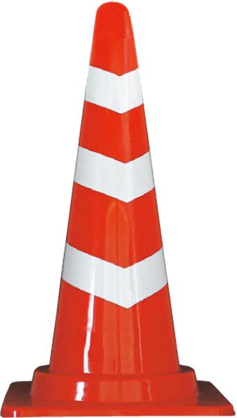 コンテナ広場 国産 人気ショップが最安値挑戦 スコッチコーン 赤白 H 700 高い素材 反射材3段巻