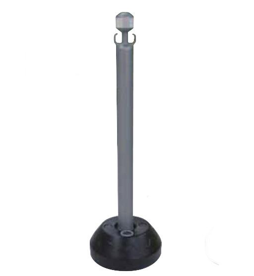 コンテナ広場 国産 AZチェーンポール シルバー ●手数料無料!! 反射なし 約 800mm チェーンスタンド 100%品質保証 高さ