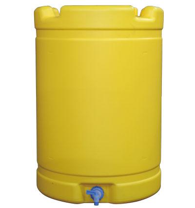 安全興業製 国産 NEW 18%OFF 水タンク 黄 直径 580mm 高さ 雨水タンクにも 835mm コック付き 多用途 約200リットル 容量 貯水器 お得なキャンペーンを実施中