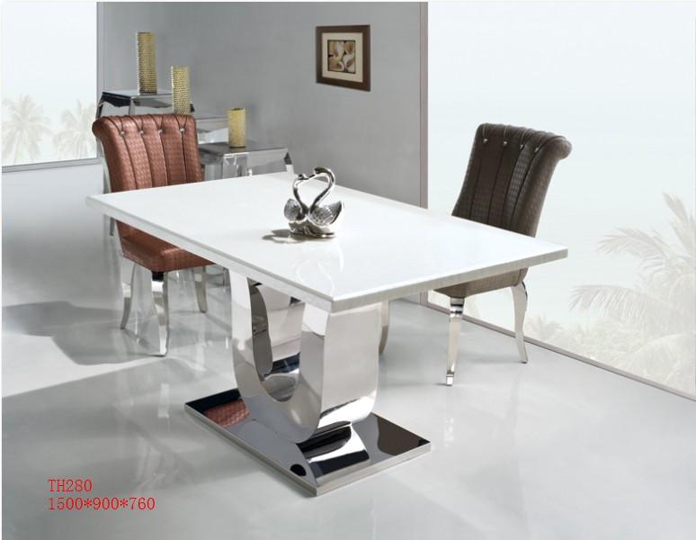 表示価額はテーブルだけの価額です セットではございません 大理石 ダイニング まとめ買い特価 テーブル モダン ダイニングテーブル モダンTH-280 人工大理石00 格安店