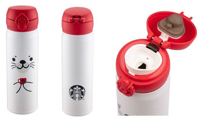 ★2019ホリデーシーズン★台湾スターバックスstarbucks coffeeアザラシサーモスステンレスタンブラー500ml