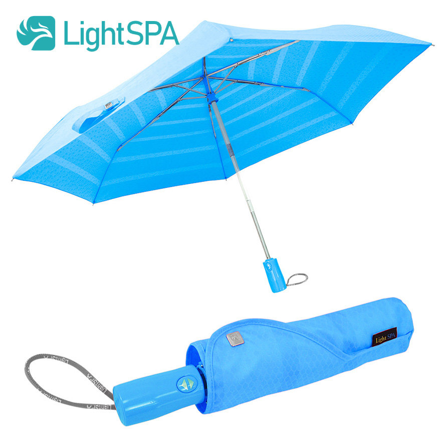 日傘 超軽量330g 折り畳み傘 ワンタッチ自動開閉 UPF50+ UVカット99% 晴雨兼用 ブルー グリーン オレンジ ピンク【海外直送】