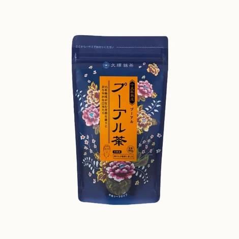 【ケース買い20%OFF】 久順銘茶 熟成15年 プーアル茶(まとめ買いや贈り物に 黒茶 中国茶 茶葉 80g×12個)