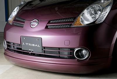 【エムズスピード M'z SPEED】ノート 等にお勧め SMART LINE フロントハーフスポイラー 塗装済み スマートライン 型式等:E11・NE11