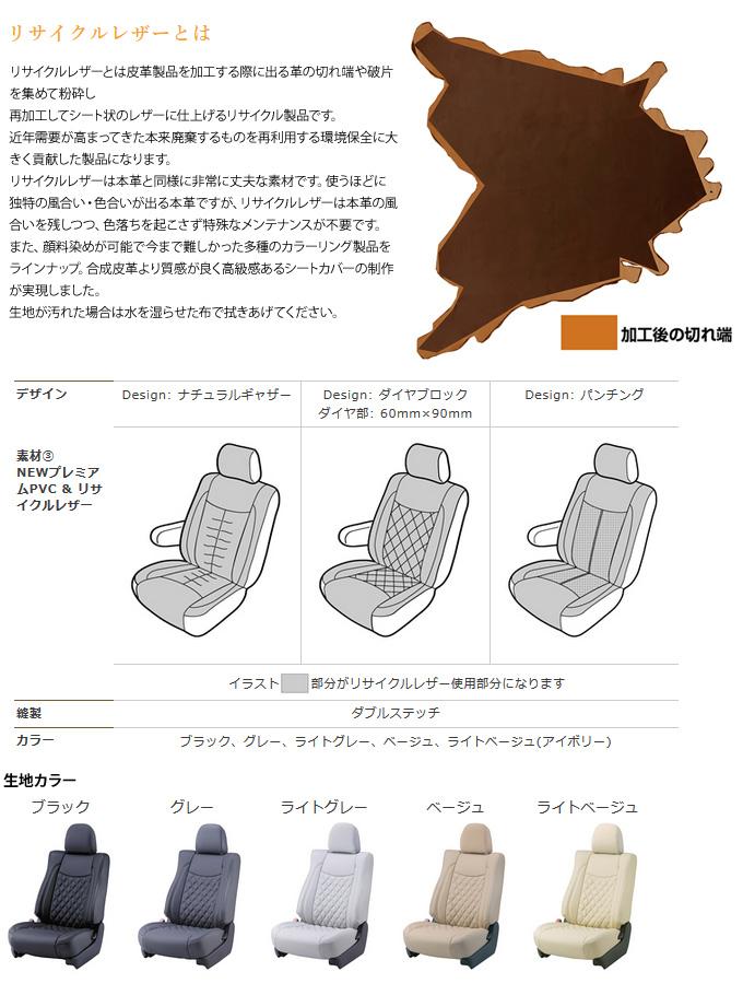 【ベレッツァ Bellezza】アクセラハイブリッド (5人乗) 等にお勧め Newプレミアムシートカバー/リサイクルレザー 型式等:BYEFP 品番:M827