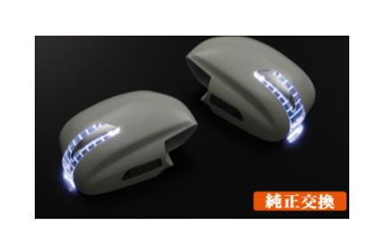【レヴィーア】 フットランプ付LEDウィンカーミラー [未塗装] ランドクルーザー100系 にお勧め! 品番:CH065F