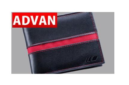 ADVAN 革サイフ / ブラック 品番:F1680 人気のアドバングッズ YOKOHAMA ヨコハマタイヤ