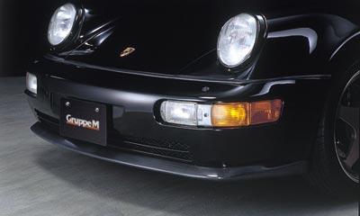 【GruppeM】 フロントスポイラータイプ1 [CFRP] ポルシェ 964 TURBO にお勧め! 品番:FSHC-964T