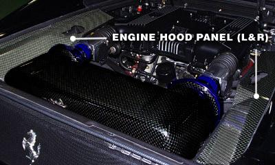 【GruppeM】 エンジンフードパネル(L&R) [CARBON or KEVLAR] フェラーリ F355 ALL にお勧め!