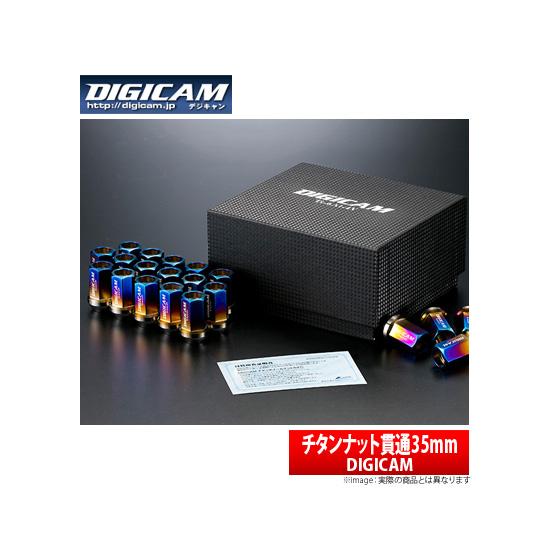 【デジキャン DIGICAM】フレアカスタムスタイル 等にお勧め チタンナット 貫通ナット M12-P1.25 16個セット(4穴車・1台分) 35mm 型式等:MJ34S/MJ44S 品番:TNKS12-DIGICAM16