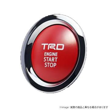 【TRD】プッシュスタートスイッチ ノア(80系、ガソリン車)などにお勧め! 品番:MS422-00003 ティーアールディー製プッシュスタートボタン