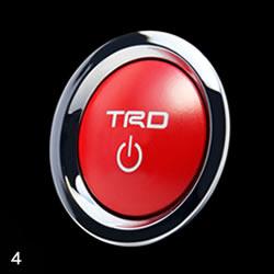 【TRD】プッシュスタートスイッチ クラウンロイヤル(210系、ハイブリッド車)などにお勧め! 品番:MS422-00004 ティーアールディー製プッシュスタートボタン