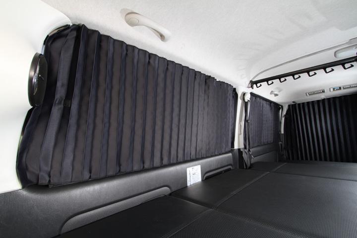 【ユーアイビークル UI vehicle】ハイエース 等にお勧め 遮光カーテン 標準スーパーGL用 リア5面セット 型式等:200系