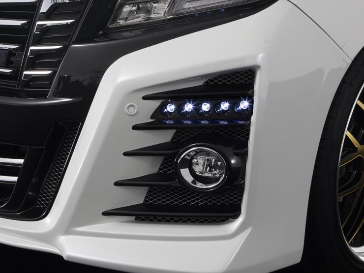 【アドミレイション/Admiration】 アルファード 等にお勧め LEDスポットキット 5連 ベルタ BELTA エアロシリーズ 型式等:GGH/AGH 30・35/AYH30