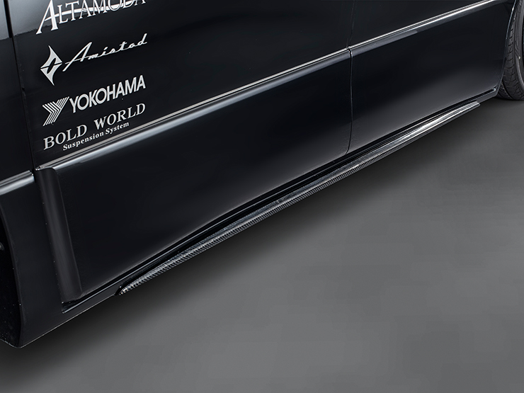 【アドミレイション/Admiration】 アルファード 等にお勧め サイドカーボン 素地 リチェルカート・バンパータイプ RICERCATO BUMPER TYPE エアロ 型式等:GGH/ANH/ATH 20・25 MC後
