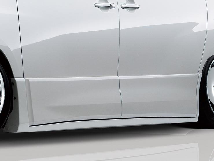 【アドミレイション/Admiration】 アルファード 等にお勧め サイドステップ 塗装済(単色) リチェルカート・ハーフタイプ RICERCATO HALF TYPE エアロ 型式等:GGH/ANH/ATH 20・25 MC後