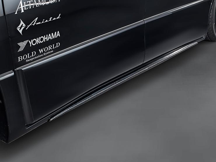 【アドミレイション/Admiration】 ヴェルファイア 等にお勧め サイドカーボン 素地 リチェルカート・バンパータイプ RICERCATO エアロ 型式等:GGH/ANH 20・25 MC前