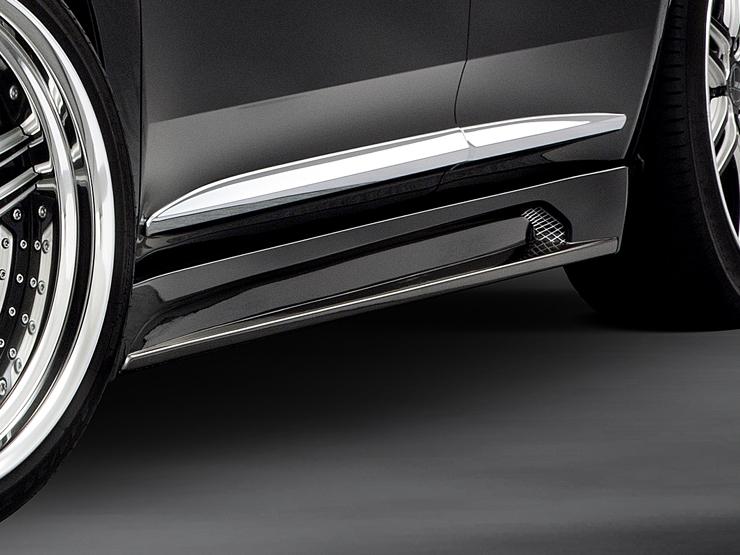 【アドミレイション/Admiration】 ハリアー 等にお勧め サイドステップ 塗装済[2色塗り分け] リチェルカート・ハーフタイプ RICERCATO HALF TYPE エアロ 型式等:AVU60・65/ZSU60・65