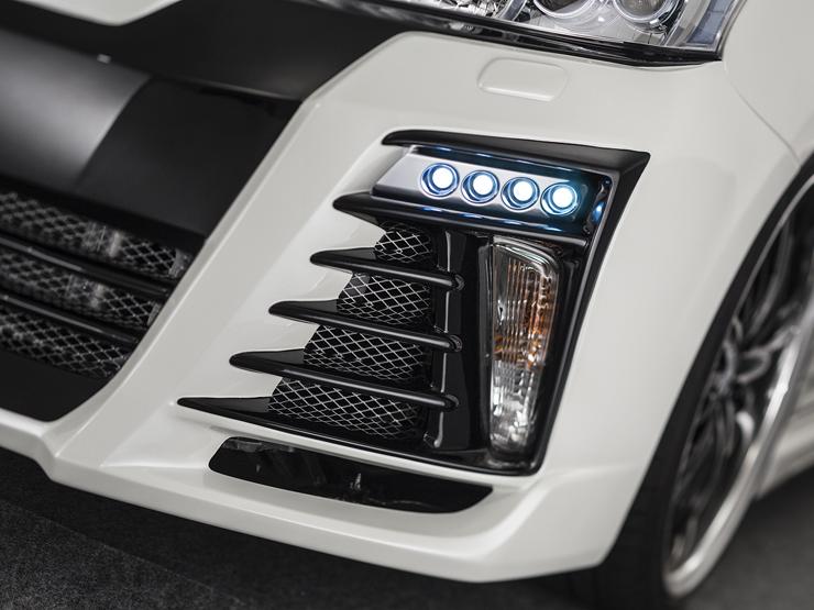 【アドミレイション/Admiration】 プリウスα/PRIUSアルファ 等にお勧め LEDスポットキット 4連 ベルタ BELTA エアロシリーズ 型式等:ZVW 40・41 MC前