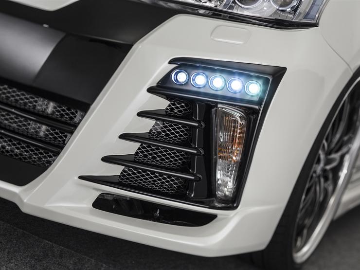 【アドミレイション/Admiration】 プリウスα/PRIUSアルファ 等にお勧め LEDスポットキット 5連 ベルタ BELTA エアロシリーズ 型式等:ZVW 40・41 MC前