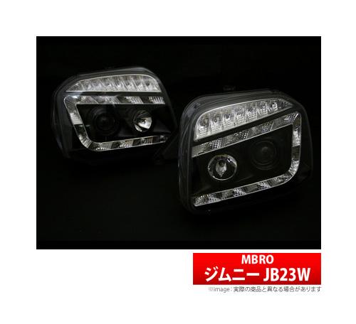 【SHARK】 ジムニー 等にお勧め シャークヘッドライト ブラック 型式等:JB23W 品番:SHJBJIMY-2L-CB-02