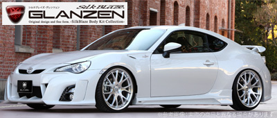 【GLANZEN】エアロ3点セット(LED付) 塗分け塗装済み 純正色+ブラック(202) SilkBlaze シルクブレイズ グレンツェン エアロ トヨタ 86 ZN6 系にお勧め 品番:GL-86-3PL-###