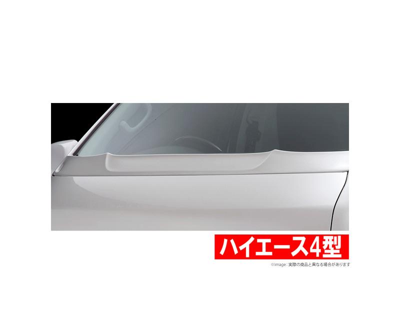 【グレンツェン GLANZEN】 ハイエース 等にお勧め ボンネットスポイラー 塗装済み 型式等:TRH/KDH2## 4型 標準車