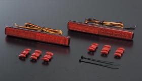 【ヴァレンティ】ルークスハイウェイスター ML21S などにお勧め 全グレード ジュエルLEDリアバンパーリフレクター スズキ汎用タイプ1 品番:RBR-SZ1 Valenti JEWEL LED REAR BUMPER REFLECTOR