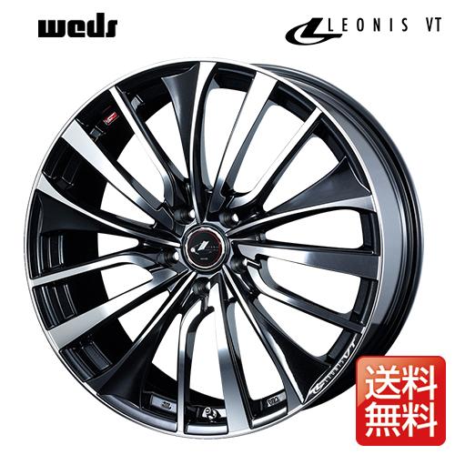 weds ウェッズ レオニス VT 16インチ リム幅6.5J インセット52 5穴 PCD114.3 PBMC(パールブラック ミラーカット) アルミホイール 1ピース
