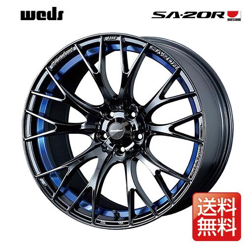 weds ウェッズ ウェッズスポーツ SA-20R 17インチ リム幅7.5J インセット48 5穴 PCD100 BLC2(ブルーライトクロームツー) アルミホイール 1ピース