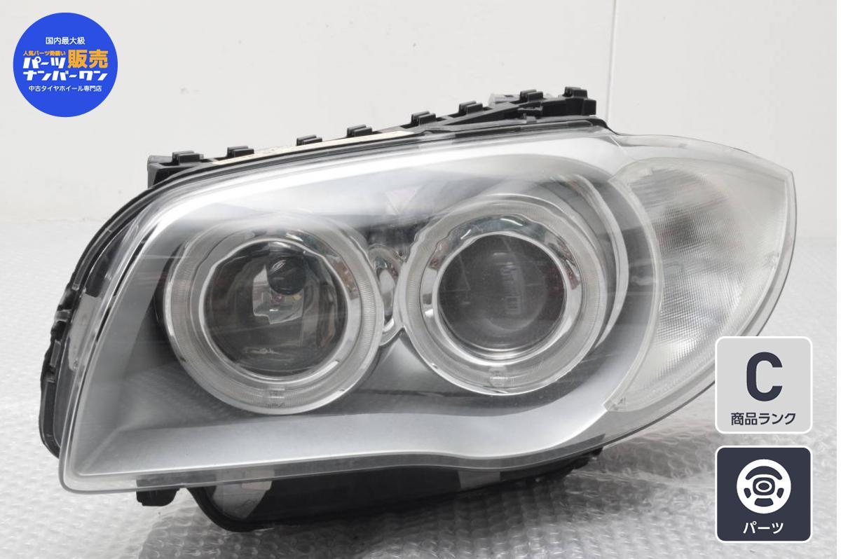 送料無料 BMW 1シリーズ 信憑 E87 等におすすめ 中古 純正 ヘッドライト 激安挑戦中 ヘッドランプ 1点 品番:63.12 6924491 左側 09