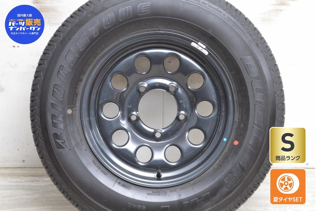 送料無料 5.5JJ×15 +5 タイヤホイールセット スズキ 卓抜 ジムニーシエラ におすすめ 中古 スズキ純正 1本セット 80R15 ブリヂストン 製 139.7 PCD ストアー 96S 195 15インチ 5.5JJ タイヤ付き
