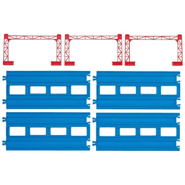 (税込み¥560/個)プラレール 複線直線レール(4本入) R-04【1カートン/24入り】カートンボックス販売