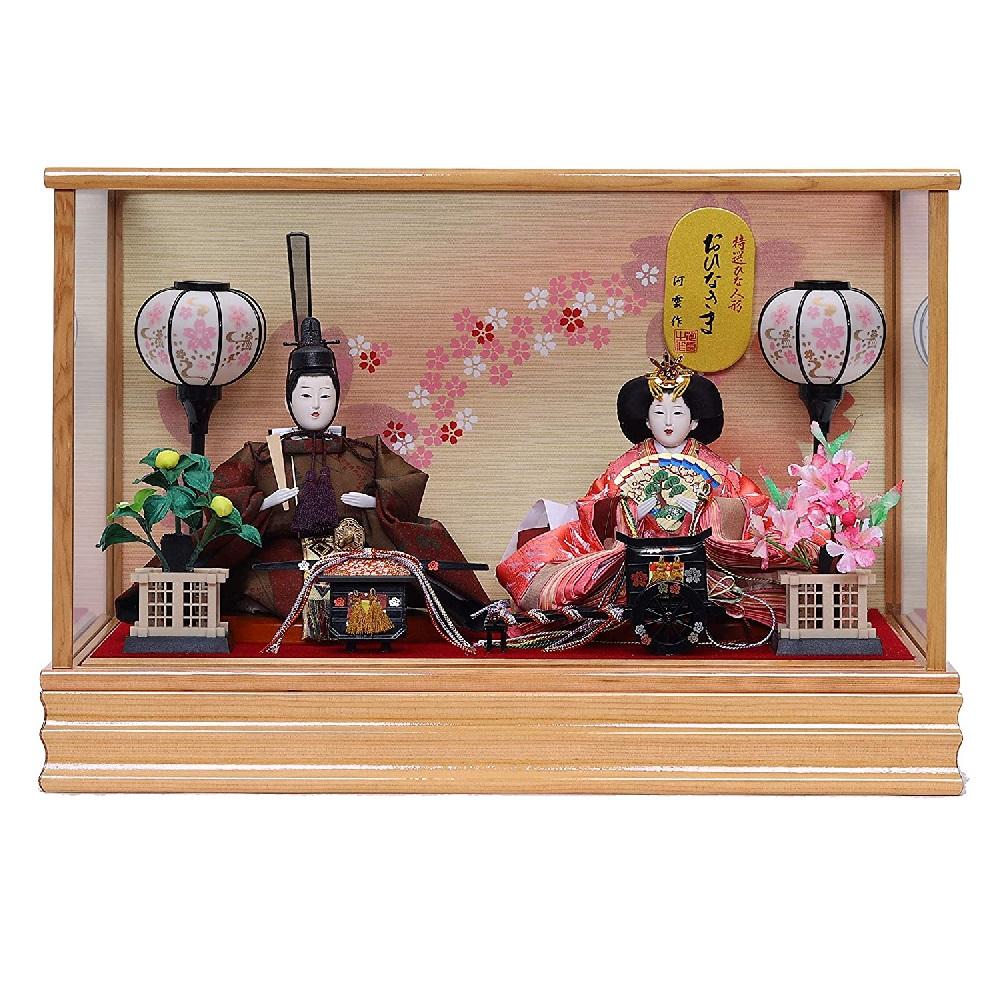 最新 ケース飾り 親王飾り 特撰ひな人形 贈呈 S2514 Z おひなさま