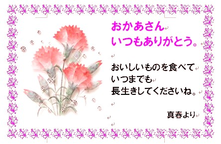 Message card for the Mother's Day ※Only for cards cannot order it. (HZ)