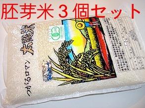 【有機JAS認定】 ★太陽の有機米(つがるロマン) ★胚芽米 15kg(5kg×3袋) ※自然農法米 ※30年度米(TZ)※6月中旬頃~新米への切替時期までは真空パック包装。他は通常包装)