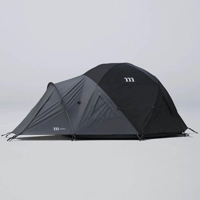 保証 [宅送] muraco ムラコ GUSTAV 4P グスタフ 4人用 テント mm 耐水圧2500 T013 ブラック×グラファイトグレー キャンプ