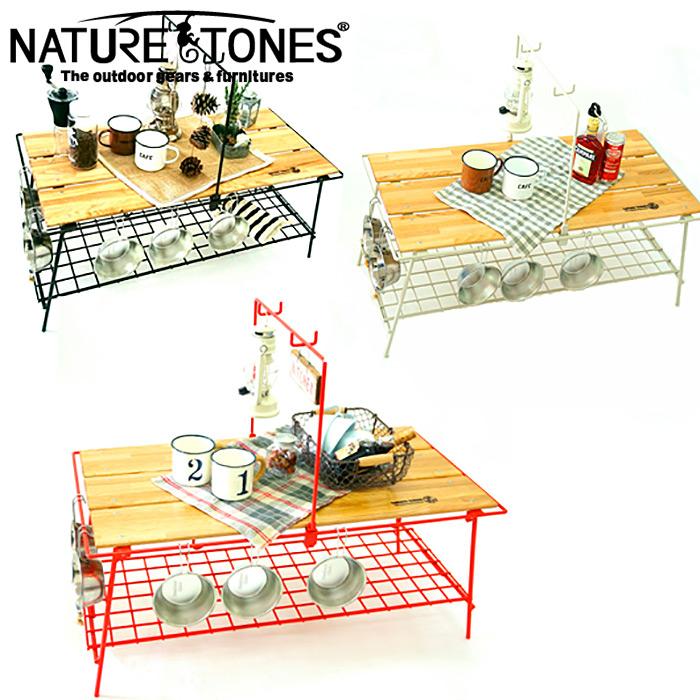 【クーポン有】 NATURE TONES ネイチャートーンズ THE FOLDING CAFE TABLE カフェテーブル 折りたたみテーブル アイボリー レッド ダークブラウン CA-I CA-R CA-D
