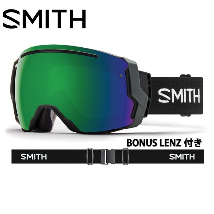 SMITH スミス I/O7 Black アイオーセブン スノーボード ゴーグル ユニセックス 2017-2018年モデル ミラーレンズ アンチフォグ フレームレス バックル 010250021
