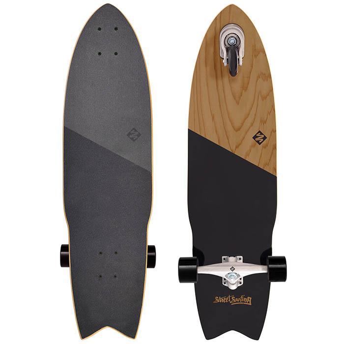 Street Surfing ストリートサーフィング SHARK ATTACK シャークアタック 36インチ Koa Black スケートボード サーフスケート 3輪 トライウィール