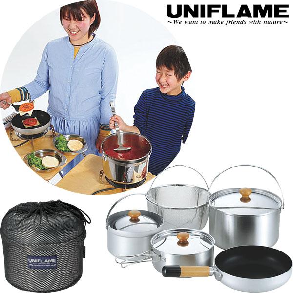 UNIFLAME ユニフレーム fan5 duo クッカーセット 鍋 フライパン メッシュバスケット 660256