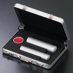 アルミ実印・銀行印 2本セット〔アルミネA-2〕ケース付【送料無料】