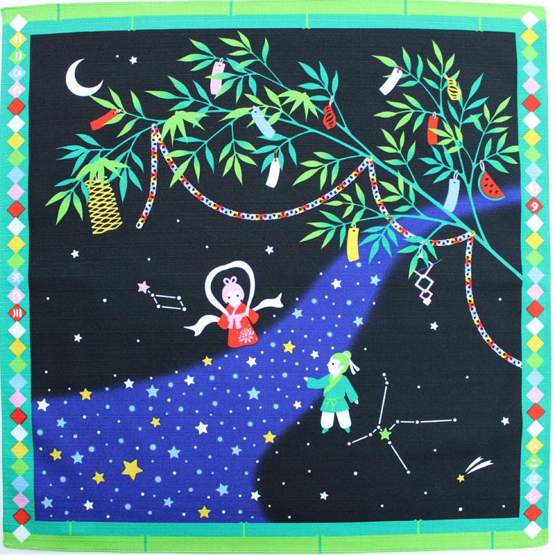 春の新作 季節をいろどる 四季彩布 布地 生地 和柄 小風呂敷 風呂敷 マート 織姫と彦星 約50cm×50cm