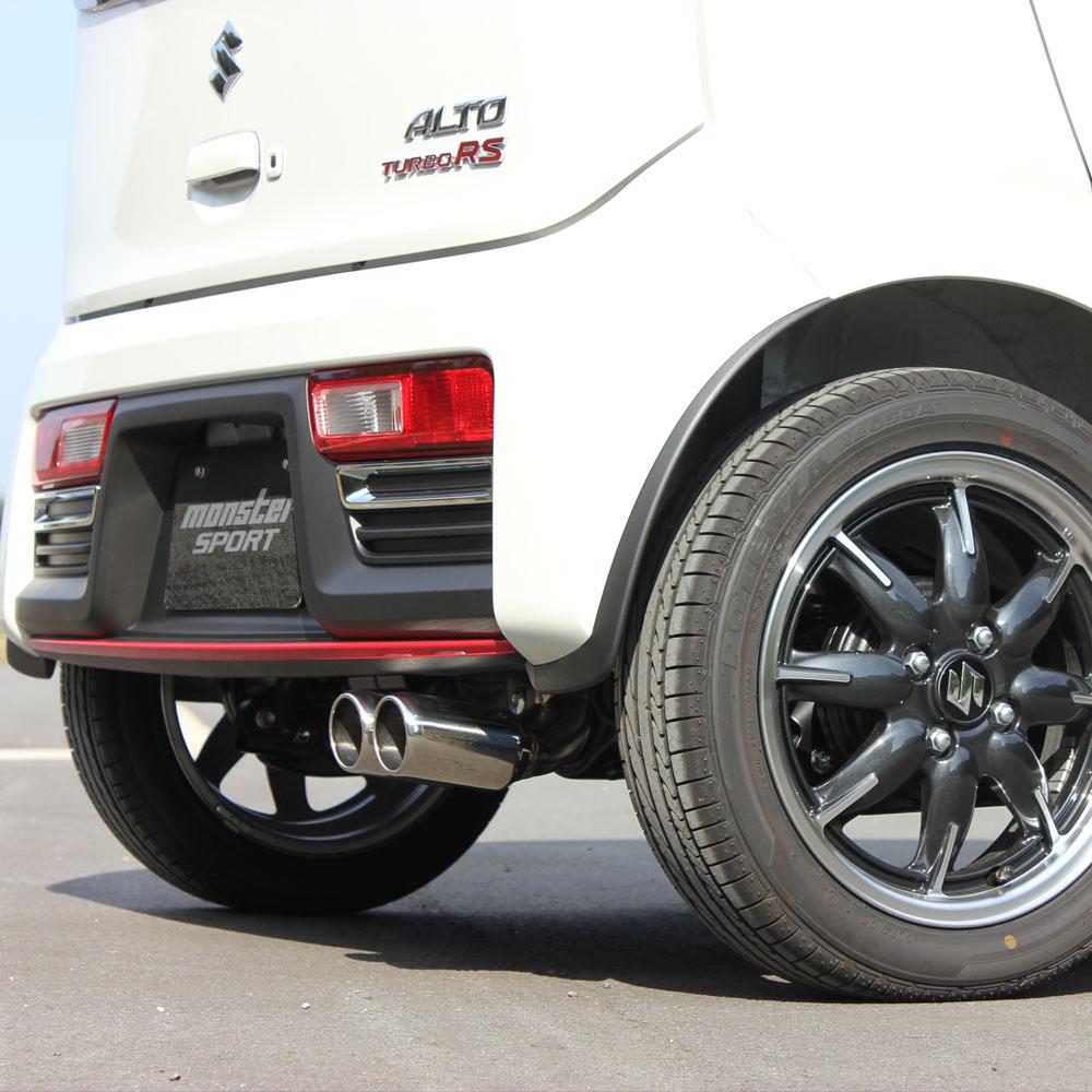 アルトターボRSマフラー(HA36S用)【アルトターボRS(HA36S)4WD用TYPESp-XXマフラーモンスタースポーツ】ターボ車・4WD車MONSTER*ALTOTURBORS【241590-7355M】