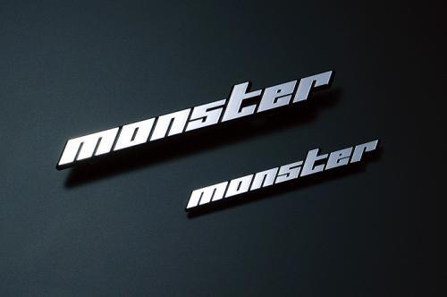 Monster Sport モンスターメッキエンブレム小 ピン無 100×15mm ゆうパケット エンブレム SALE開催中 100×15 新色