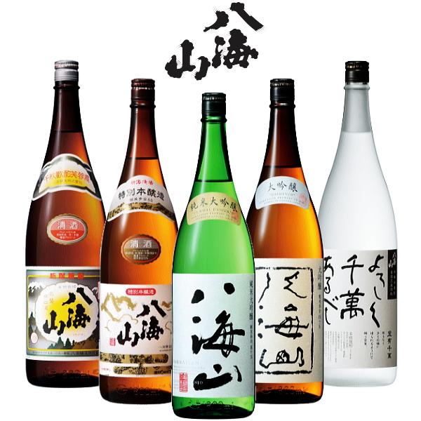 【 新潟 】 日本酒 新潟銘酒「 八海山 」を飲み比べ!ファン憧れの大吟醸酒も入ってる♪『八海山セット名:「らいでん」1.8L×5本セット』
