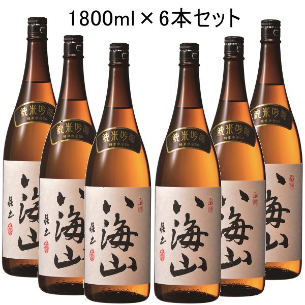 【 代引料無料セット】 日本酒 新潟南魚沼の地酒『 八海山 純米吟醸 1.8L 6本セット 』