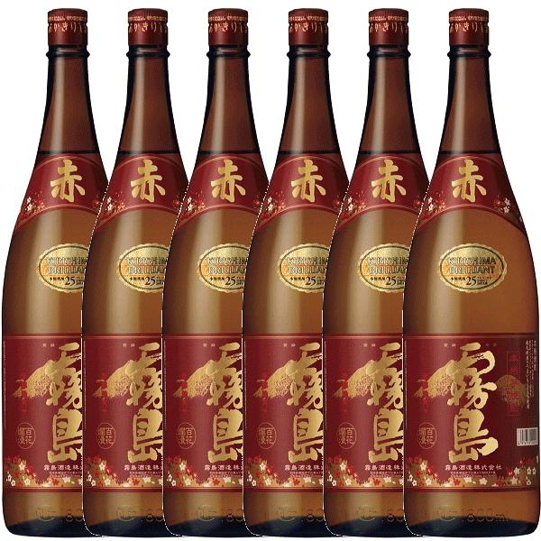 【 送料無料 セット ・代引料無料】 いも焼酎 『 赤霧島 1800ml 6本セット』一升瓶(1.8Lサイズ)※北海道、沖縄への配送には別途送料500円が加算されます。